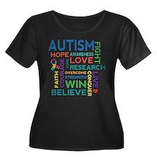 Autism Word C Plus Size T-Shirt