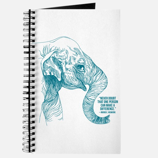 One Can Make A Difference Elephant Sketch Journal