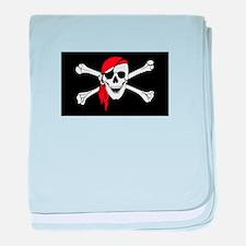 Laurent drapeau pirate baby blanket