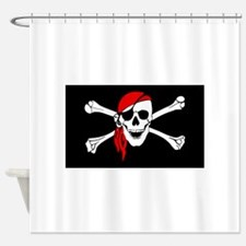 Laurent drapeau pirate Shower Curtain