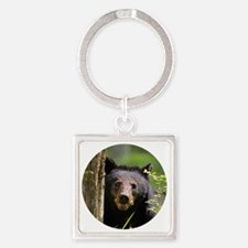 Funny Bark Square Keychain