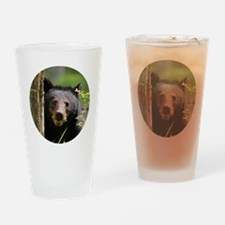 Cute Black bear Drinking Glass