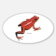 Red Arrow-Poison Frog Oval Decal