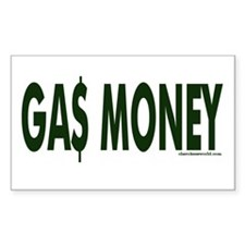 Gas Money Rectangle Decal