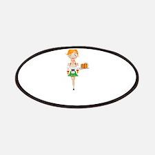 Cartoon Cute Waitress Character Patch