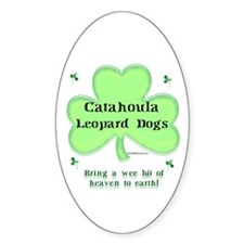 Catahoula Heaven Oval Decal