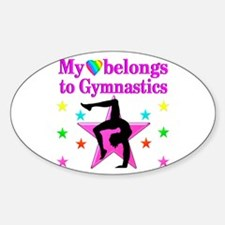 GYMNAST GIRL Sticker (Oval)