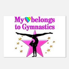 GYMNAST GIRL Postcards (Package of 8)