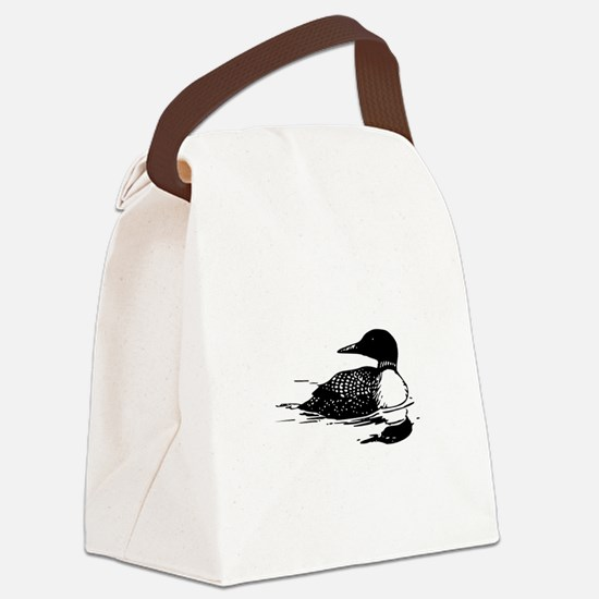 Common Loon Canvas Lunch Bag