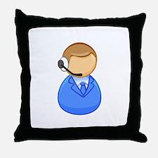 Call center boy Throw Pillow