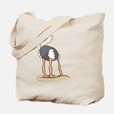 Ostrich Head in Sand tail up Tote Bag