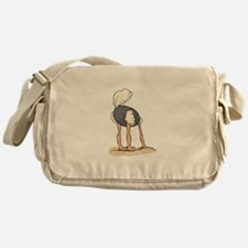 Ostrich Head in Sand tail up Messenger Bag