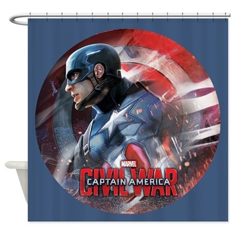 Captain america in shield shower curtain by captainamericacivilwar - Captain america curtains ...