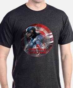 Captain America in Shield T-Shirt