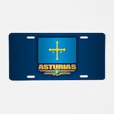 Asturias Aluminum License Plate