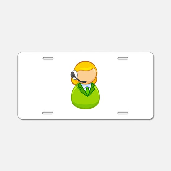 Call center girl Aluminum License Plate