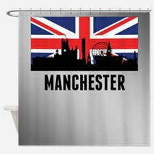 Manchester British Flag Shower Curtain