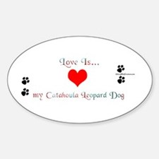 Love is my Catahoula Oval Decal