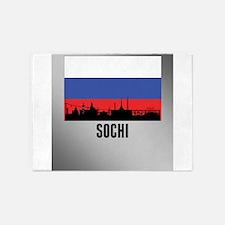 Sochi Russian Flag 5'x7'Area Rug