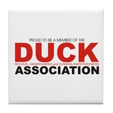 DUCK: Knifethrowing Associati Tile Coaster