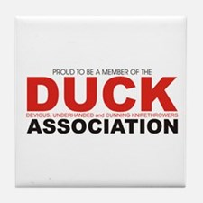 DUCK: Knifethrowing Associati Tile Coaster