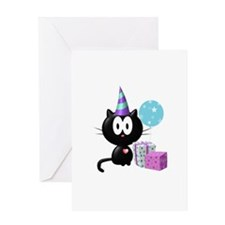 Birthday Kitty Greeting Card