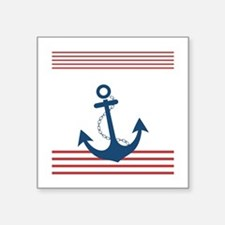 Nautical Striped Design with Anchor Sticker