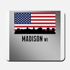 Madison WI American Flag Mousepad