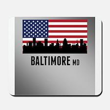 Baltimore MD American Flag Mousepad