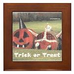 Halloween Hay Framed Tile