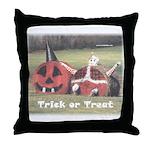 Halloween Hay Throw Pillow