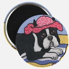 Beached Boston Terrier Magnet