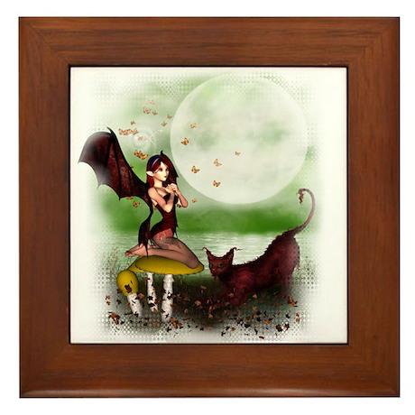 Night Fairy Framed Tile