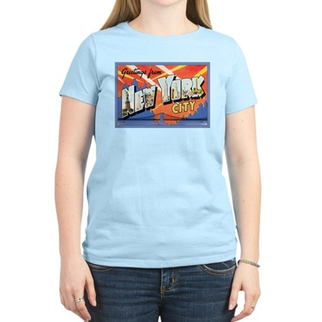New York City Postcard Women's Light T-Shirt