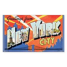 New York City Postcard Rectangle Decal