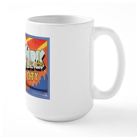 New York City Postcard Large Mug