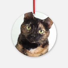 Tortie Cat Round Ornament