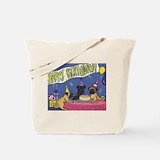 Happy Birthday Pugs Tote Bag