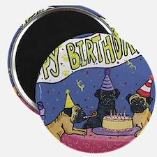"Happy Birthday Pugs 2.25"" Magnet (10 pack)"