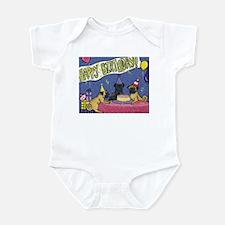 Happy Birthday Pugs Infant Bodysuit