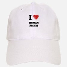 I love Human Rights Baseball Baseball Cap
