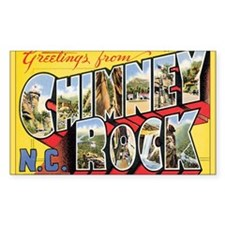 Chimney Rock Postcard Rectangle Decal
