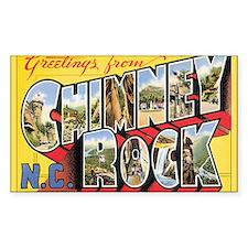 Chimney Rock Postcard Rectangle Stickers