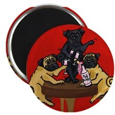 """Party Pugs 2.25"""" Magnet (100 pack)"""