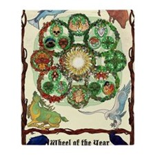 Cute Wheel of the year Throw Blanket