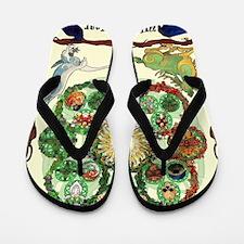 Cute Imbolc Flip Flops