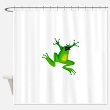Excited Green frog Shower Curtain