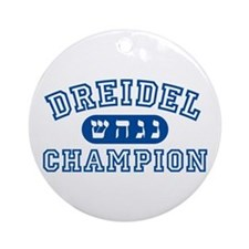 Dreidel Champion Ornament (Round)