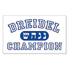 Dreidel Champion Rectangle Decal