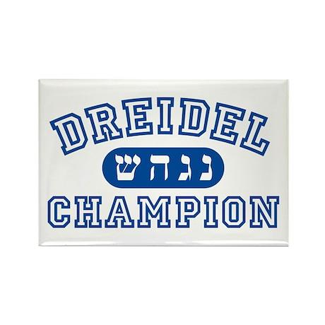 Dreidel Champion Rectangle Magnet